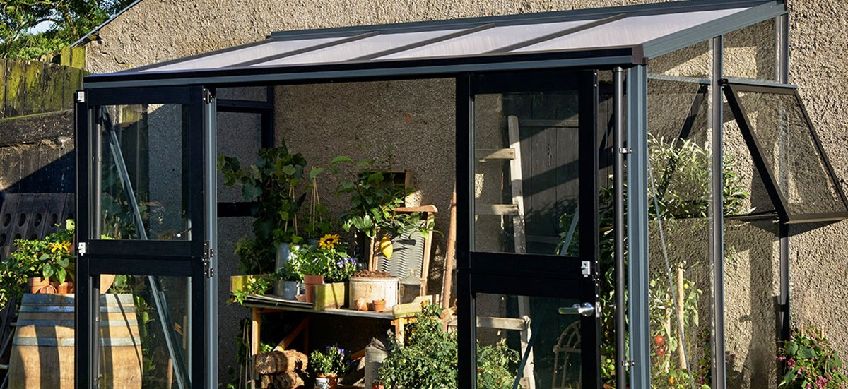 Lean to greenhouses for sale